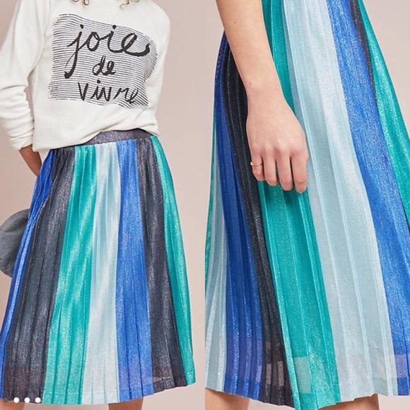 Anthropologie Dresses & Skirts - * Anthropologie Sunburst Pleated Midi Skirt *